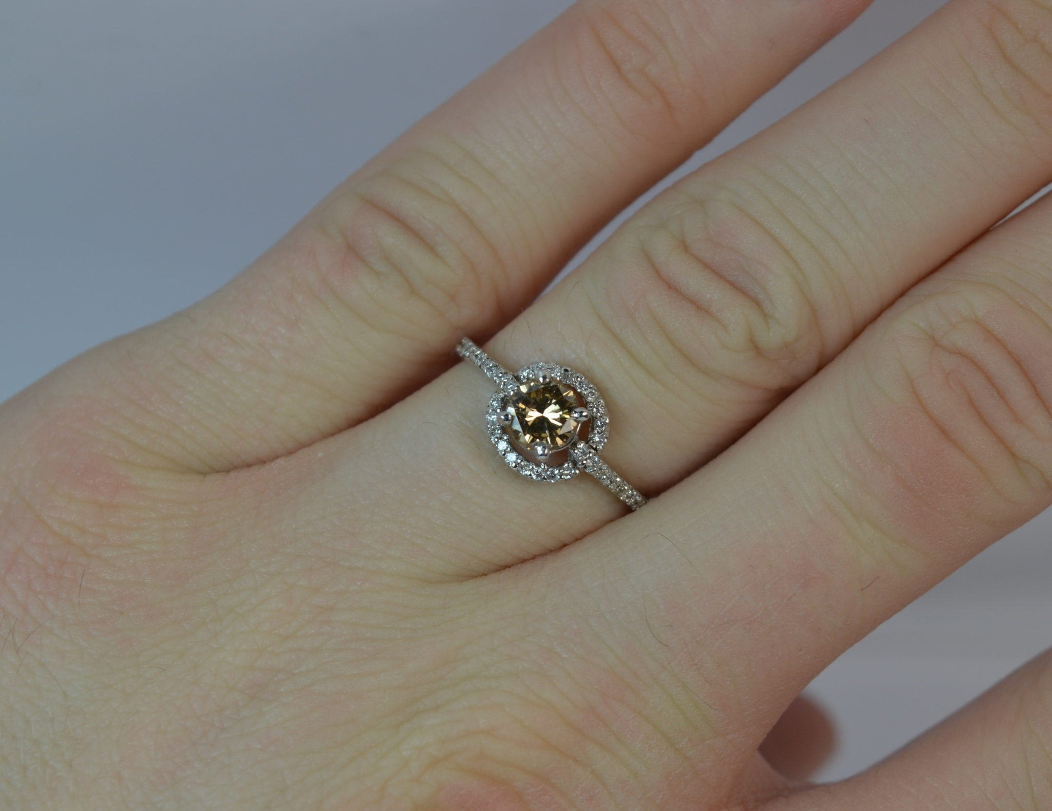 morganite earth rings products of facets engagement champagne image ring diamond