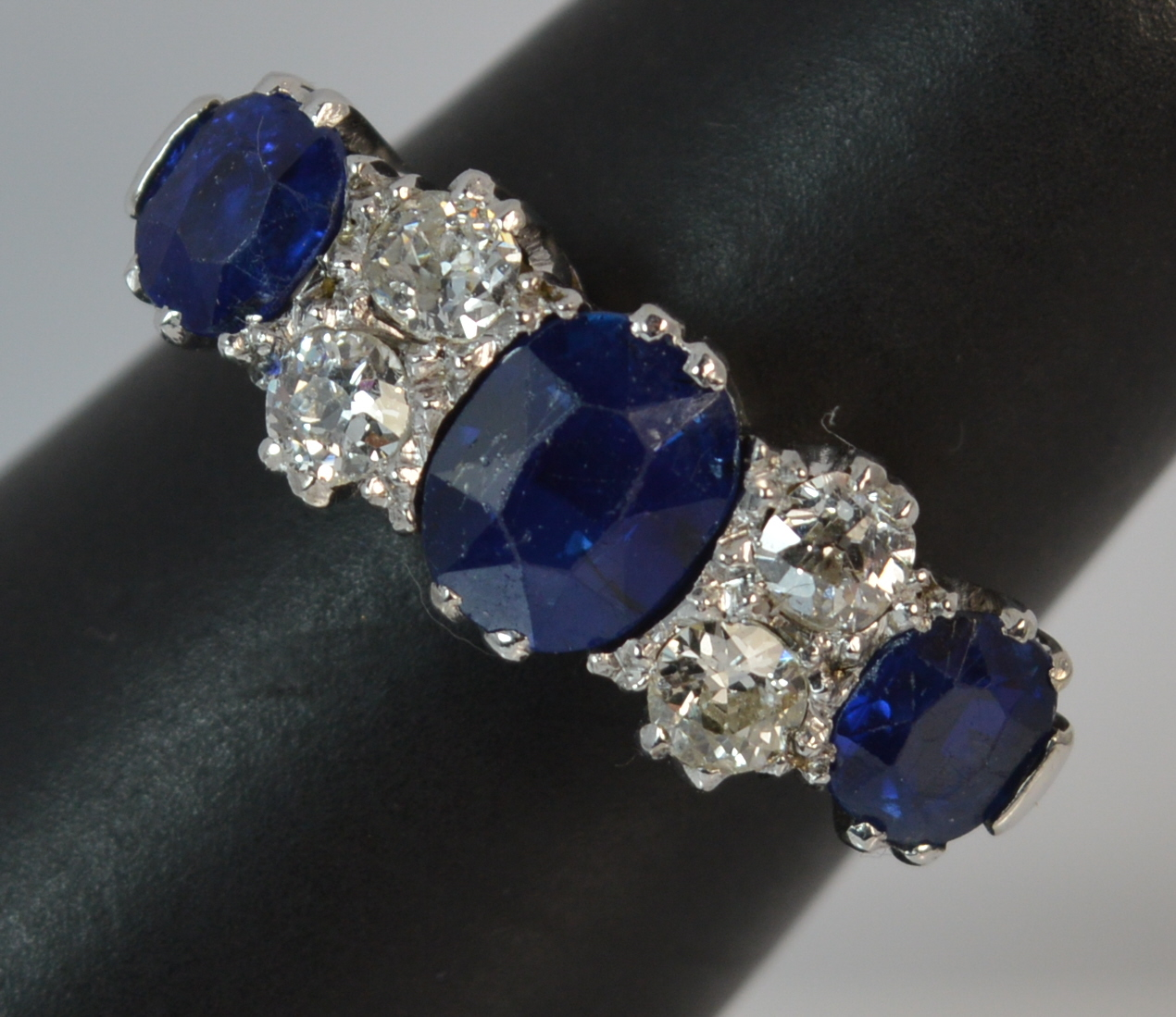 sapphire from and diamond earrings image susannah cluster studs large