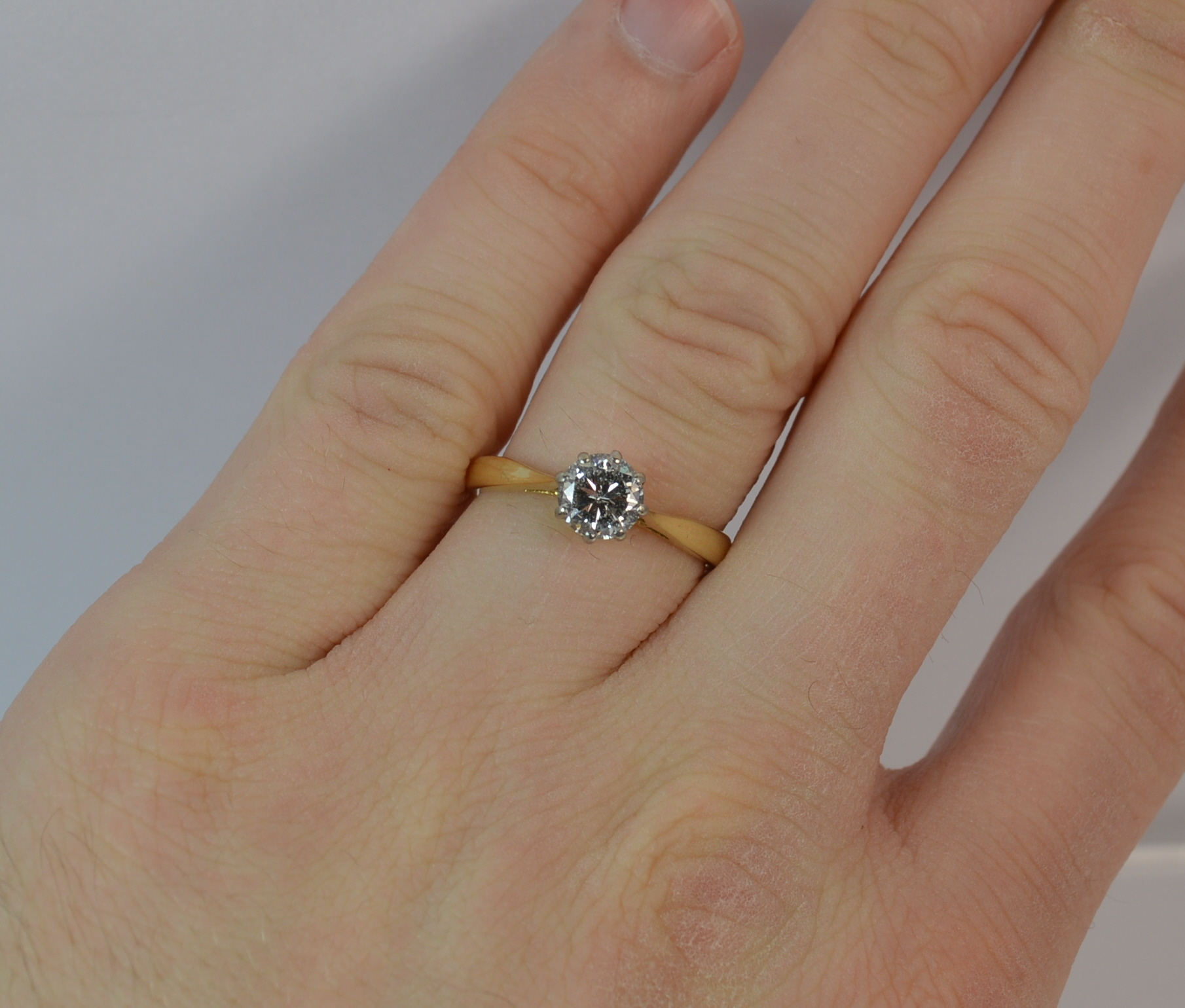 diamond en zoom round white to mv rings gold carat cut kaystore zm solitaire kay ring hover