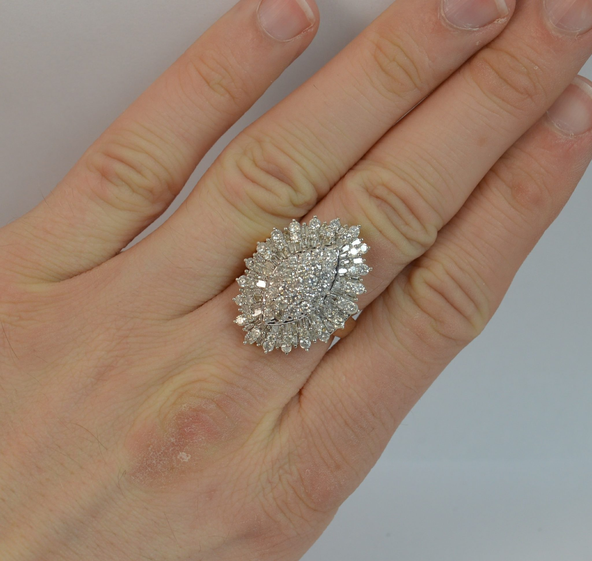 ce0007142bf91 Bling 2.50 Carat Diamond and 9 Carat Gold Cluster Ring d0369